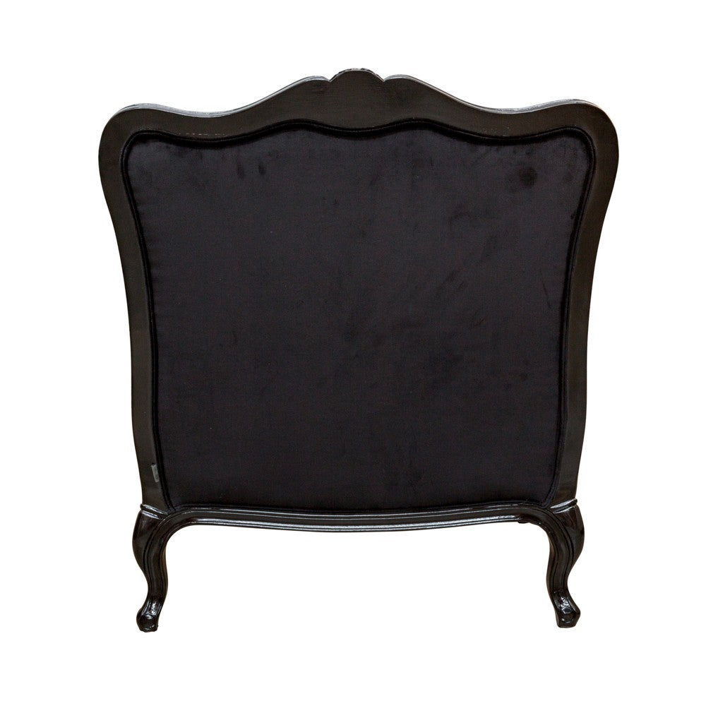 Issabelle Arm Chair Black Velvet