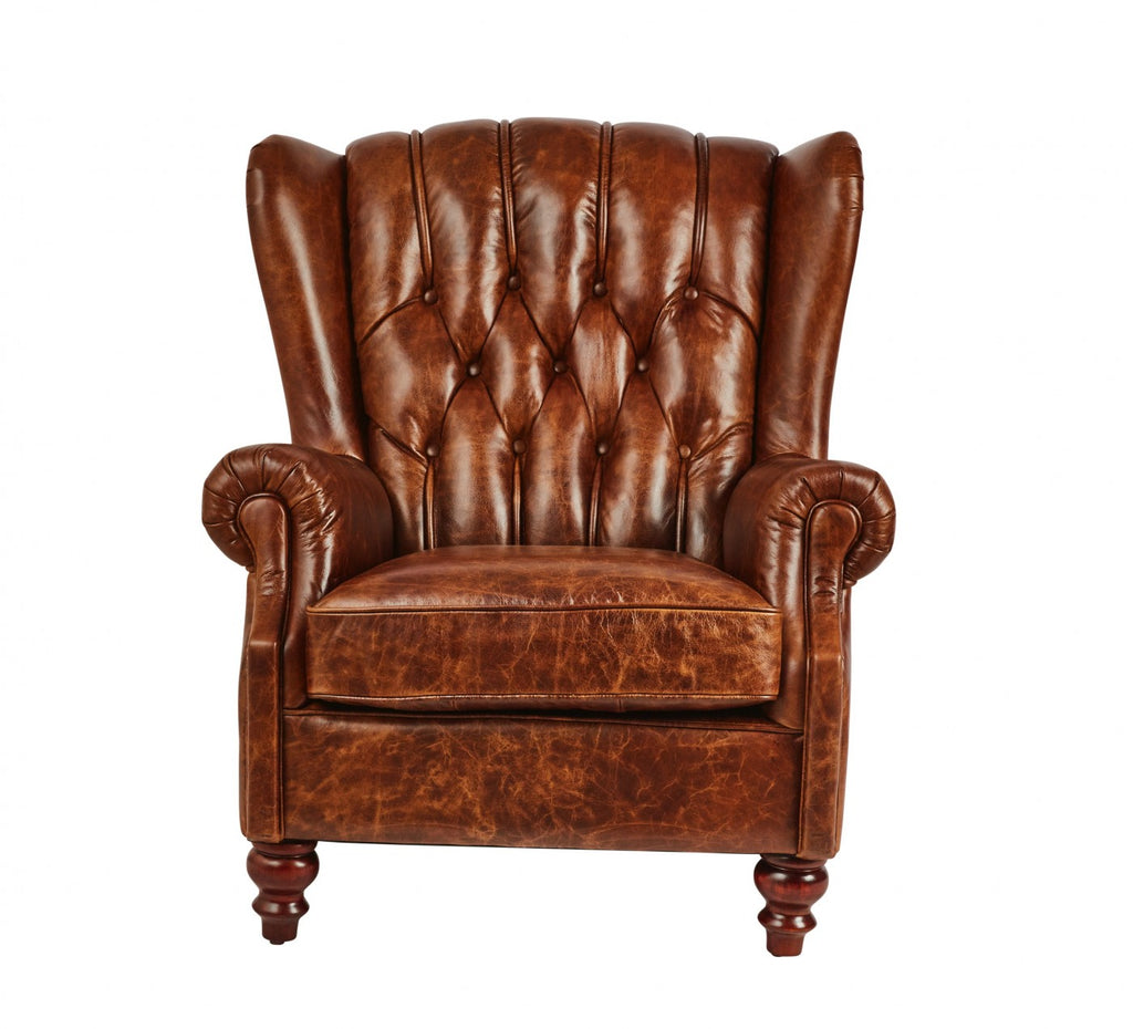 Vintage Leather Chesterfield Club Chair Cognac