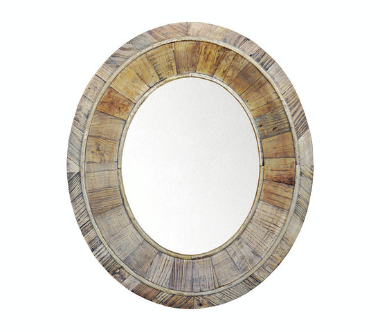 Recycled Pine Oval Mirror