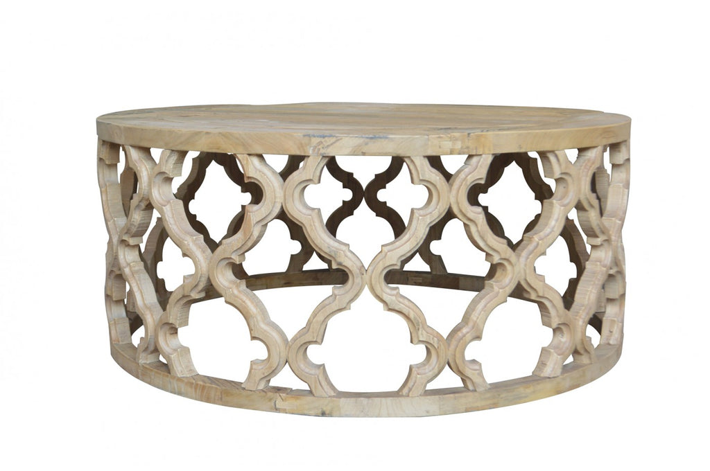 trellis round coffee table interiors online