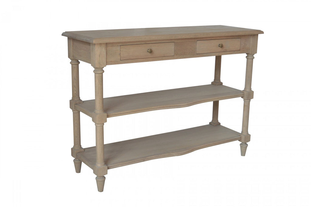 Two Tiered Console Oak