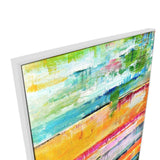 Colours Will Crash Canvas Painting with Floating Frame