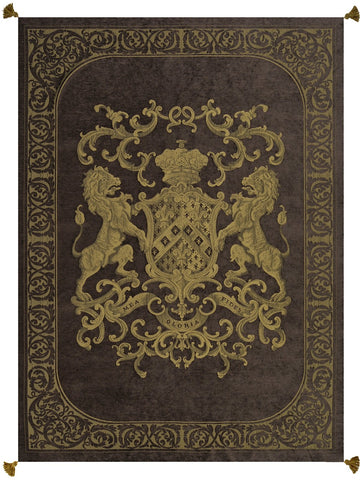 Heraldic Throw Chocolate