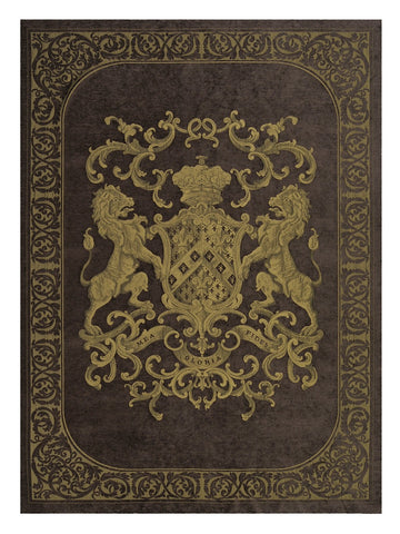 Heraldic Wall Hanging Chocolate