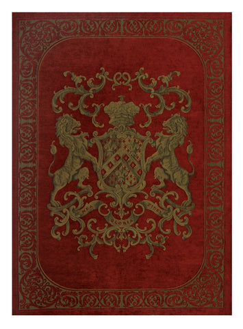 Heraldic Wall Hanging Olive