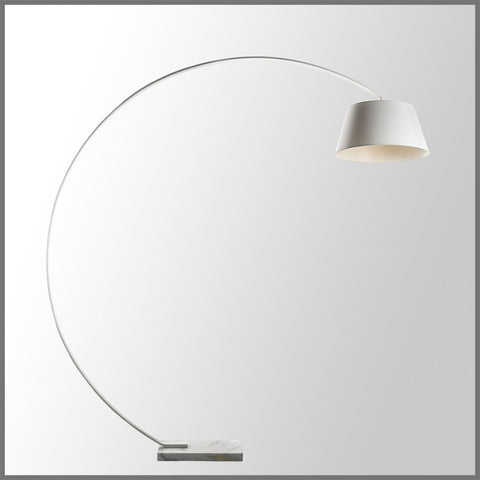 Arc Floor Lamp White Large