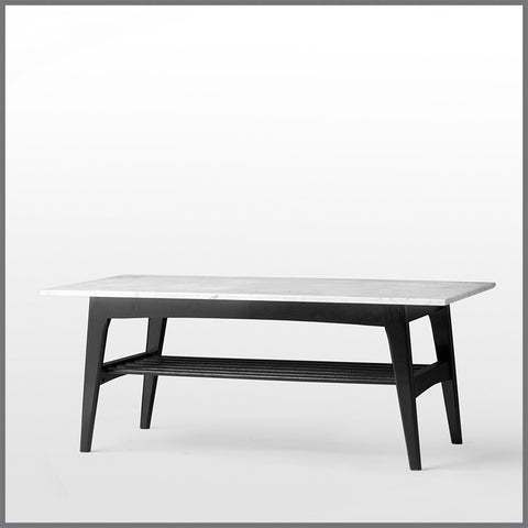 Vesta Rectangular Coffee Table Black Small