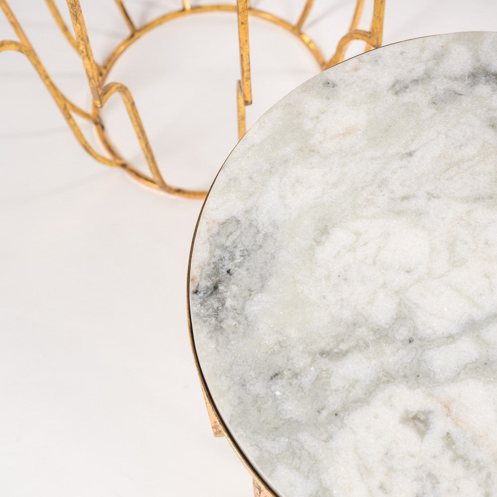 Issy Gold Marble Tables Set/3