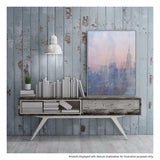 Dawn Haze Canvas Painting with Floating Frame