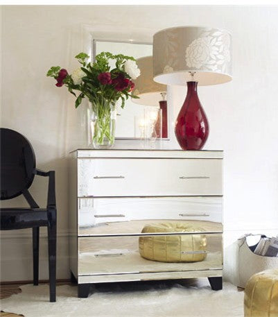 Patricia Mirrored 3 Drawer Chest