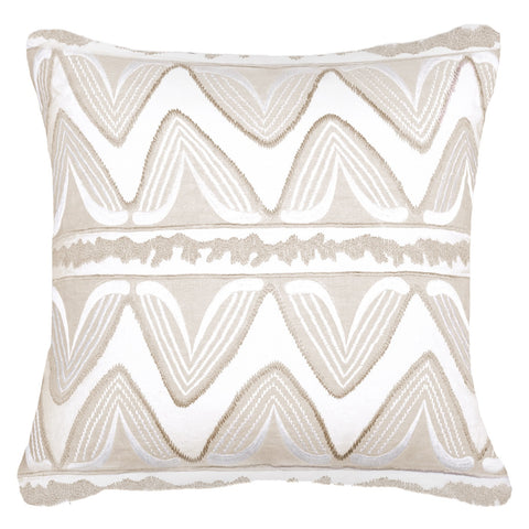 Ikat Ruby Natural Cushion