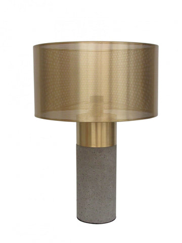 Durie Bolo Cylinder Lamp with Brass Shade Large
