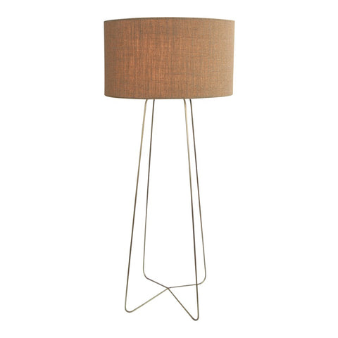 Durie Luma Cylinder Floor Lamp with Linen Shade