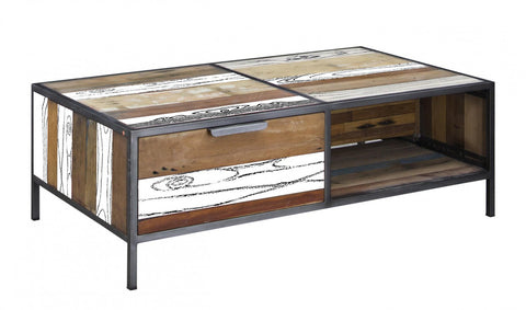Spectrum Coffee Table 2 Drawer White