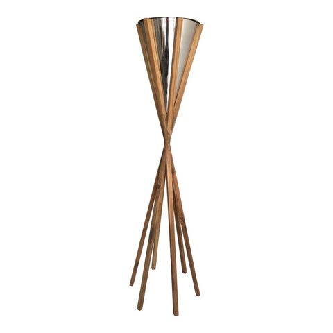 Nickel Cone Candle on Stand
