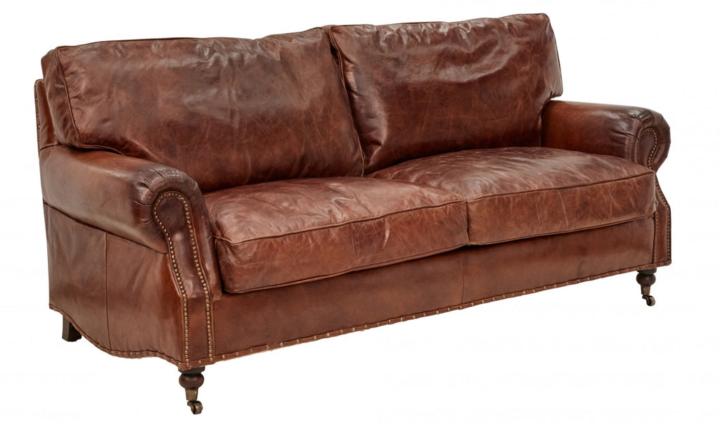 Charmant ... Vintage Leather Kent Sofa 3 Seater ...