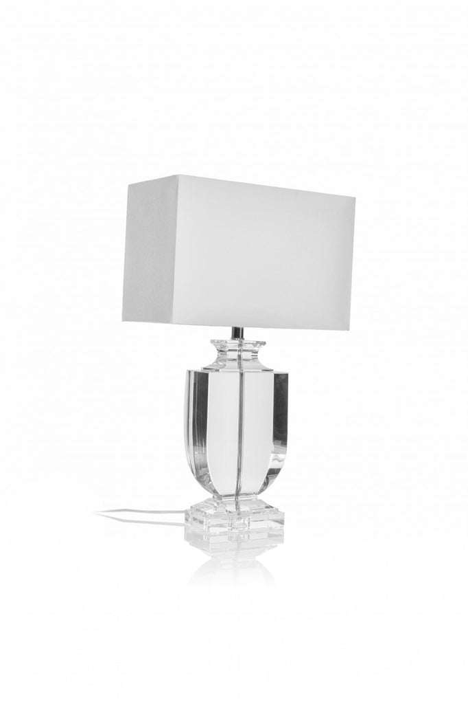 Wide Tapered Lamp with Shade