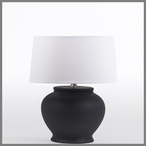 Black Ceramic Lamp