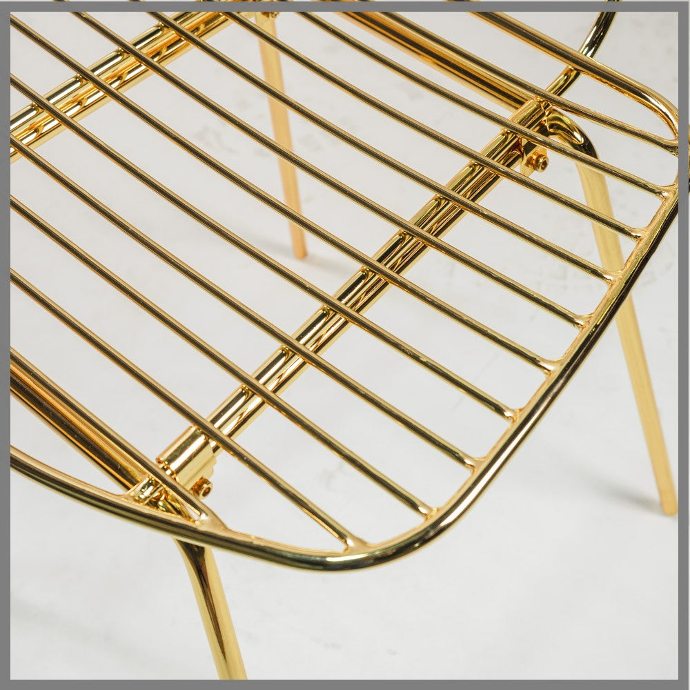 Lotti Gold Metal Dining Chair