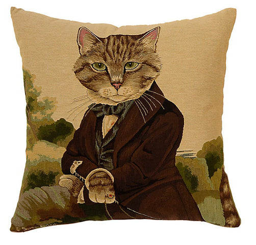 Dressed Cats Cushion Sir Huxley