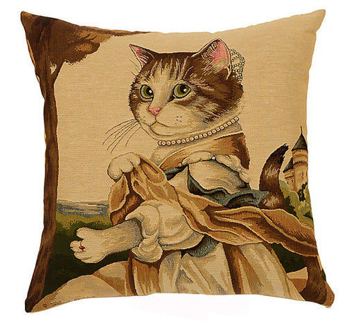 Dressed Cats Cushion Lady Guinevere