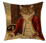 Dressed Cats Cushion Lord Nelson