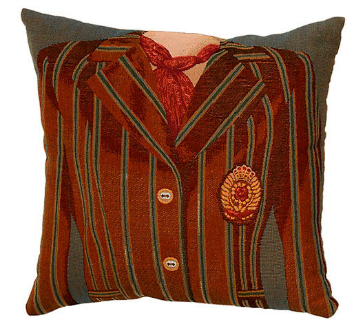 Jacket Cushion Brown/Blue Stripe