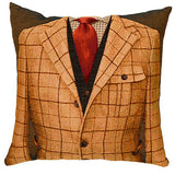 Jacket Cushion Beige Check/Red Tie