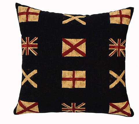 British Flag Cushion Square All Over Design