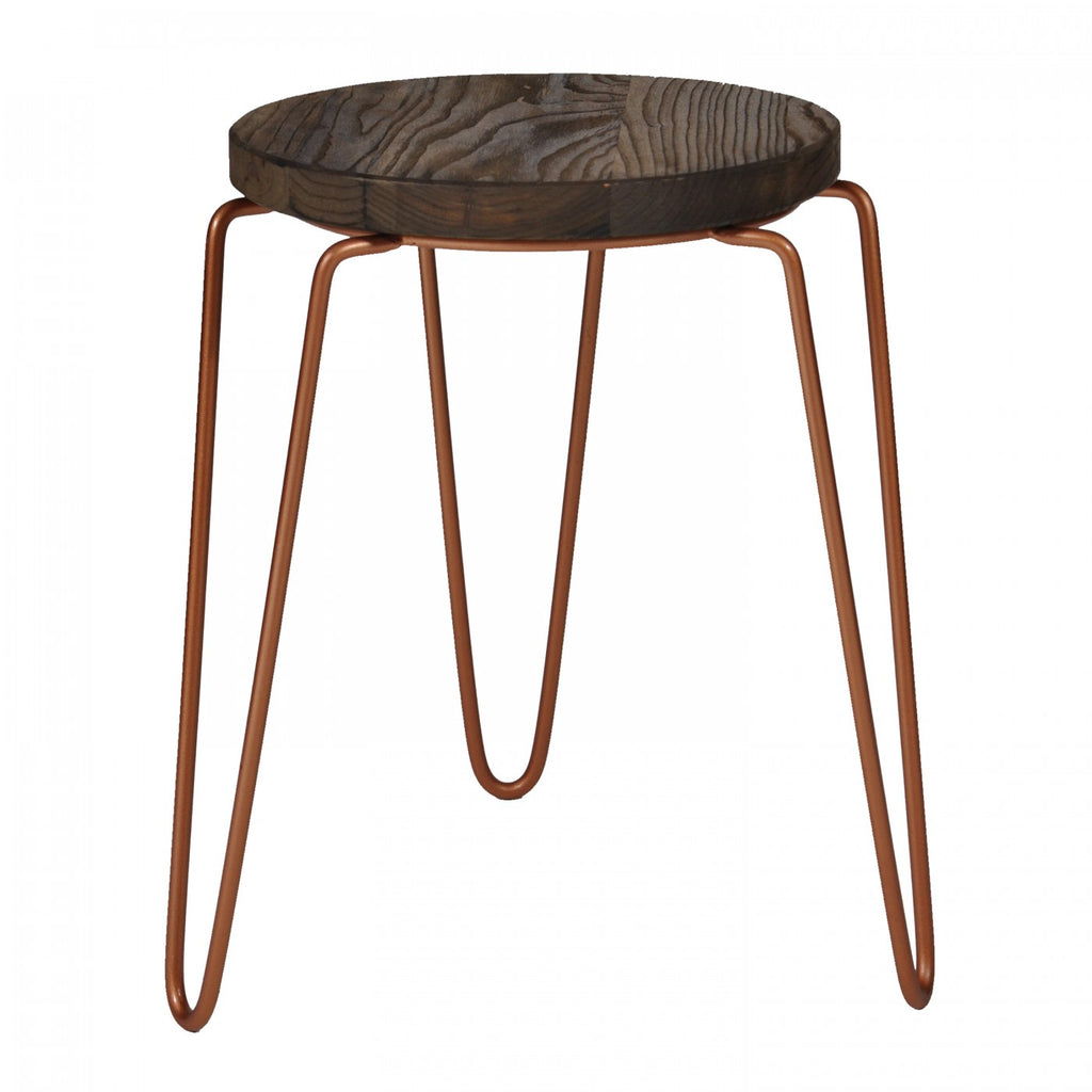 Tripod Iron Stool Copper