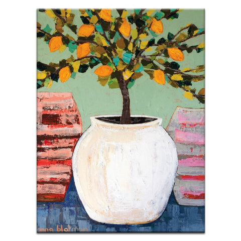 Lemon Tree In Pot Canvas Print
