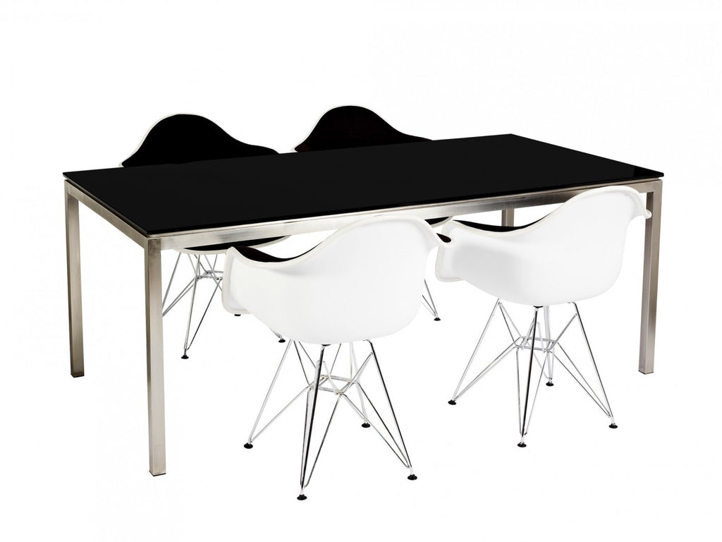Lilia Dining Table Black Glass