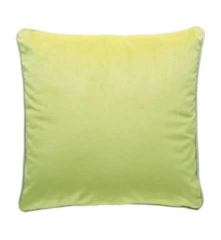 Lime Green Velvet Cushion