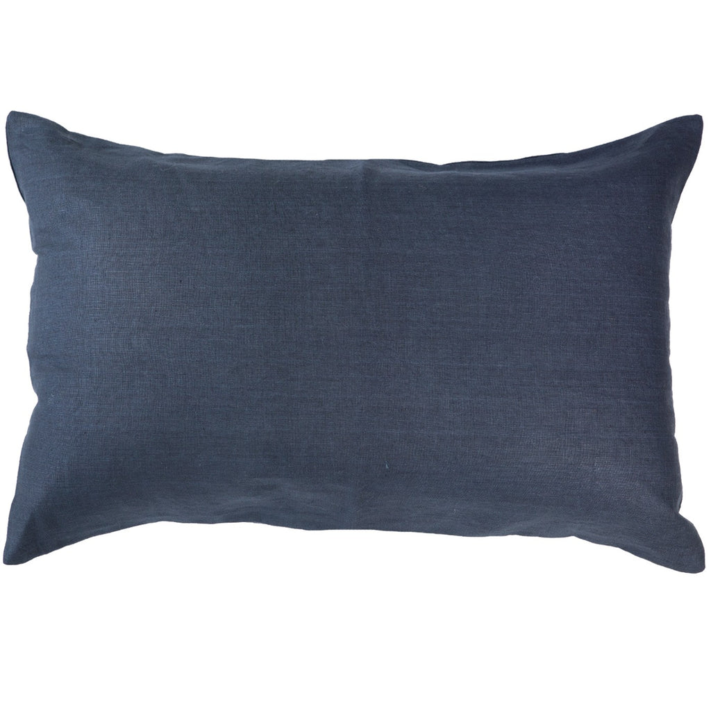 Linen Navy Sham Cushion