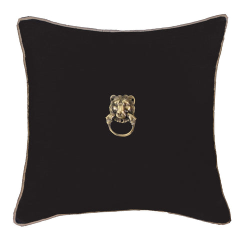 Lion Black Cushion