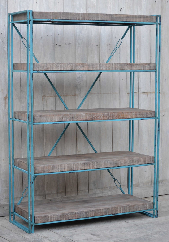 Industrial Aqua Bookcase