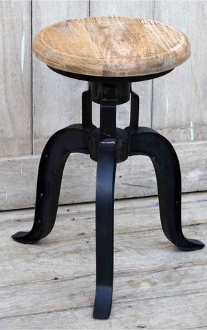 Halo Cast Iron Wind Up Stool