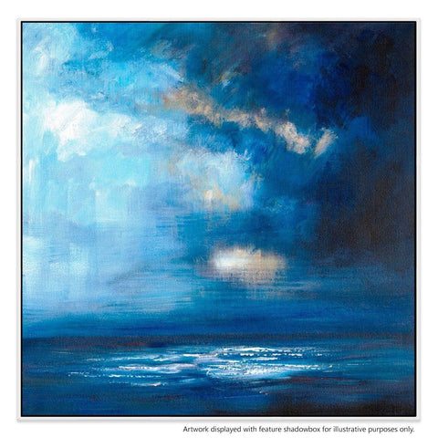 Stormfront Canvas Painting with Floating Frame