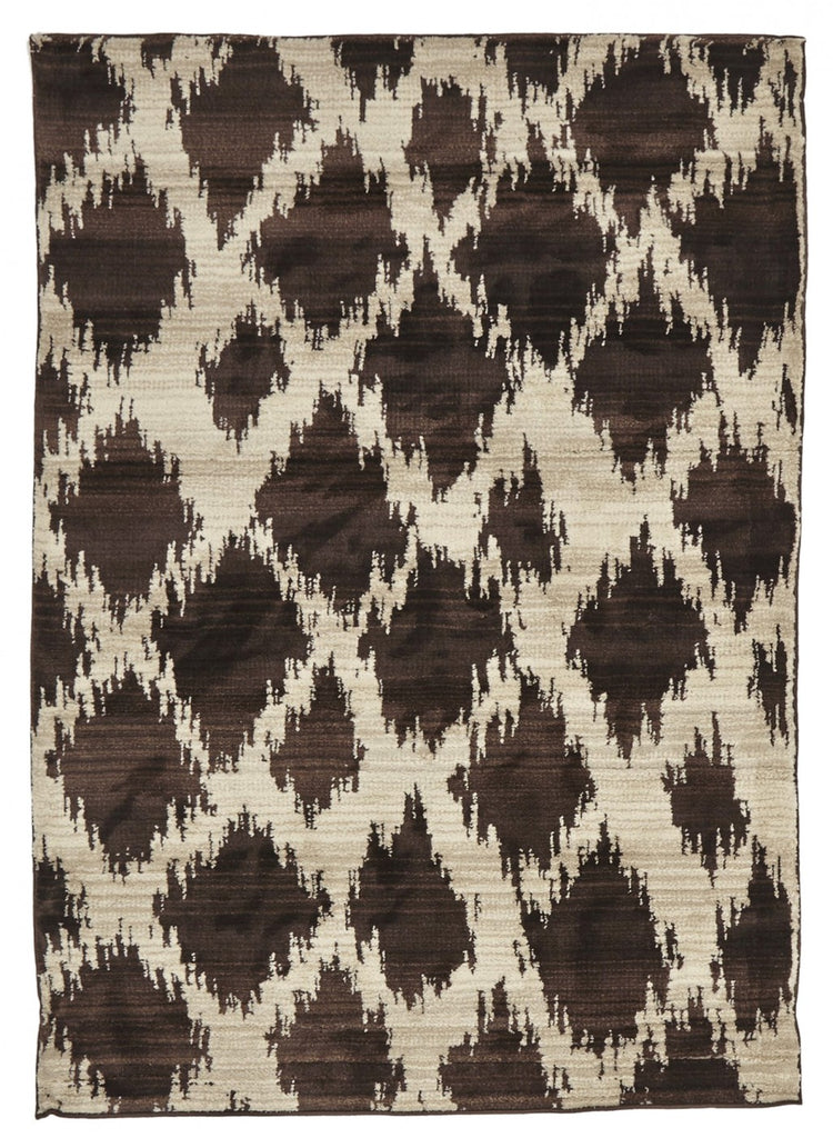 Moroccan Diamond Design Rug Chocolate