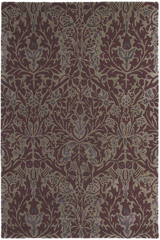Morris & Co Autumn Flowers Plum 27500 Rug