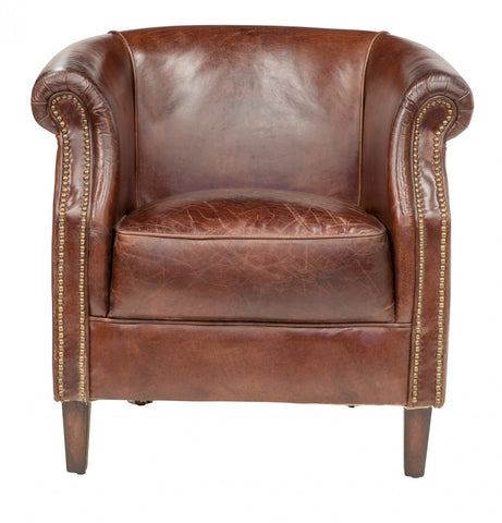 Vintage Leather Decor Armchair