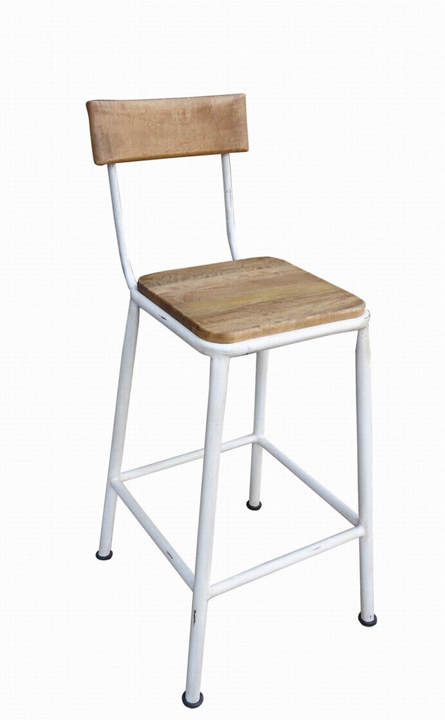 Tube Breakfast Stool with Back