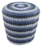 Indoor/Outdoor Stripe Woven Stool