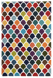 Flat Weave Fish Scales Rug Multi