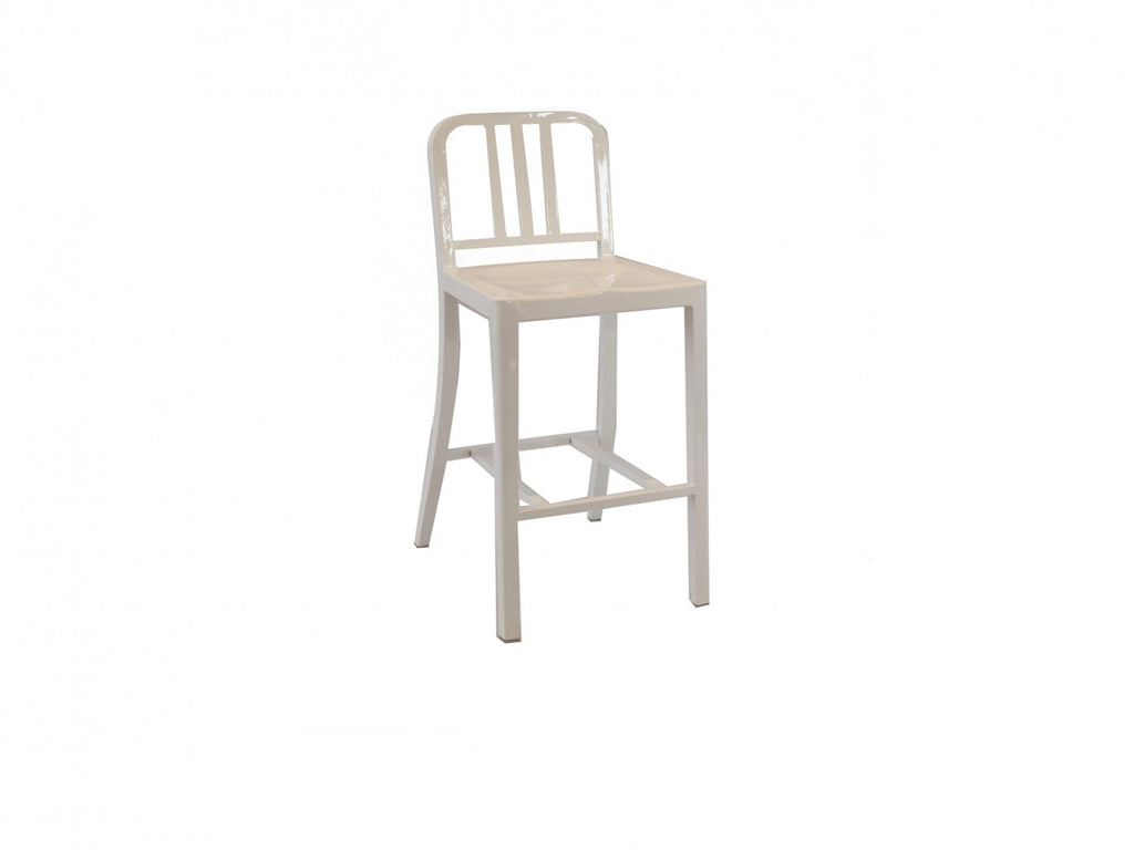 Replica Emeco Navy Counter Stool Stainless Steel Powder Coated