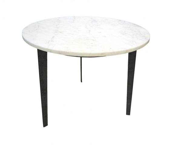 Oliver Side Table Round Matt Black