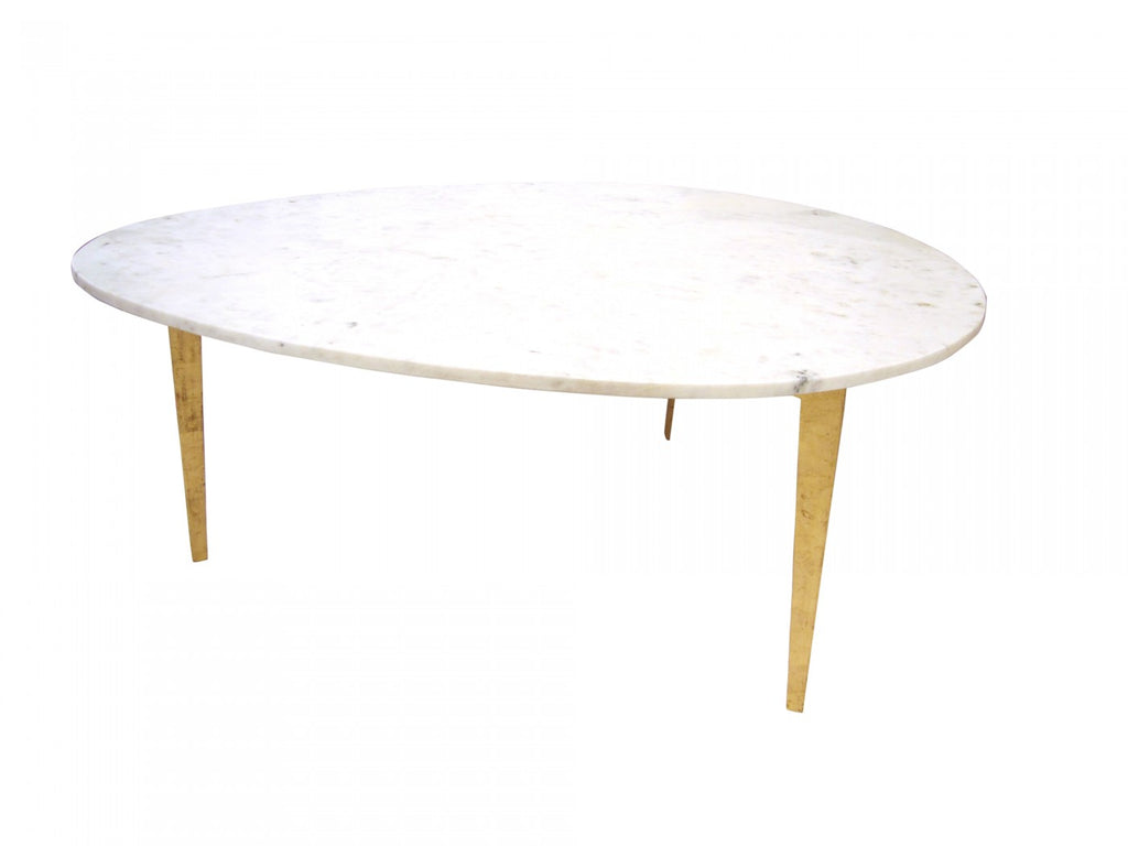 Oliver Shaped Coffee Table Gold Leaf ...