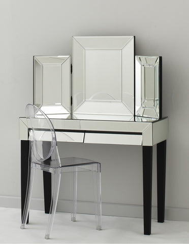 Isabelle Mirrored Bedside Table 3 Drawers