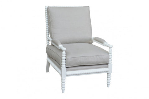 Bobbin Armchair White Washed