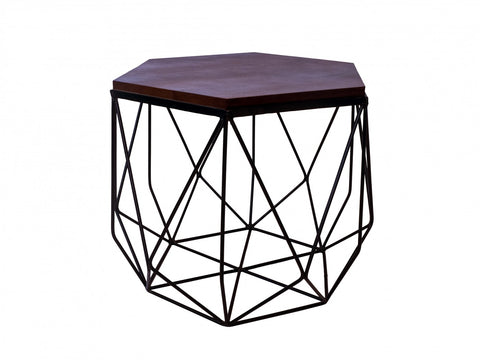 Hexagonal Black/Dark Brown Coffee Table
